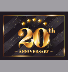20 years anniversary celebration logo 20th vector image
