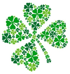4 leaf clover lucky clover for St Patricks day vector