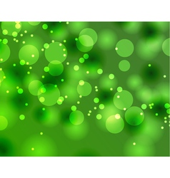 Abstract green Bokeh texture vector image