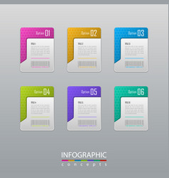 abstract infographic template for chart diagram vector image