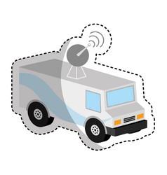 antena car isometric icon vector image