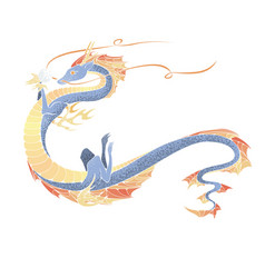 asian dragon symbol of the 2024 year vector image