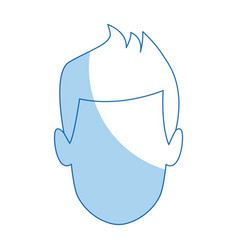 avatar man face male character vector image