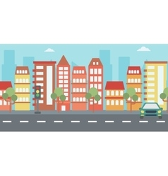 Background modern city vector