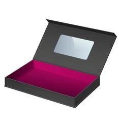Black package cardboard box opened vector