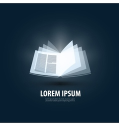 book logo icon sign emblem template vector image