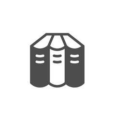 books set glyph modern icon vector image