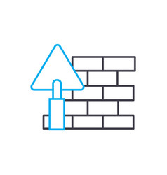 brick setting thin line stroke icon brick vector image