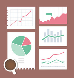 Business chart set vector image
