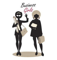 business woman silhouette-06 vector image