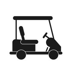 Cart of golf sport design vector