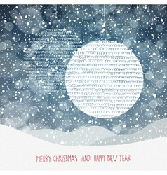 Christmas Background with Christmas Ball Symbol an vector image