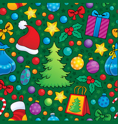 christmas seamless background 2 vector image