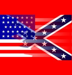 Civil war flag blend vector