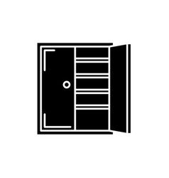 Closet black icon sign on isolated vector