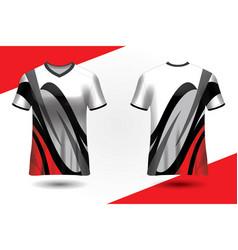 Club shirt design uniform front and back vector