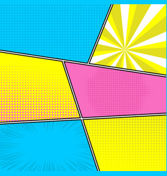 Colorful comics template vector