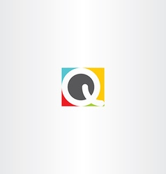 colorful icon q letter q design symbol vector image vector image