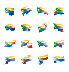 comoros flag on a white vector image