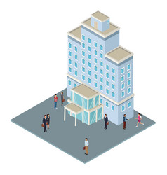 company tower building vector image