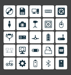 Computer icons set collection of settings vector