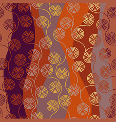 curly waves pattern in art nouveau style vector image