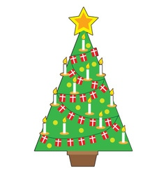 Danish Christmas Tree vector image
