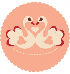 decorative swans vector image