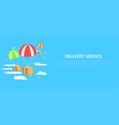 Delivery service package by air gift vector