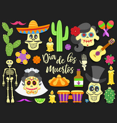 Dia de los muertos day of the dead traditional vector