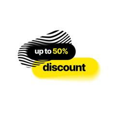Discount banner template vector