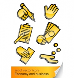 economic and business icon vector image vector image