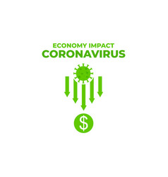 Economy impact economy down and fall because coron vector