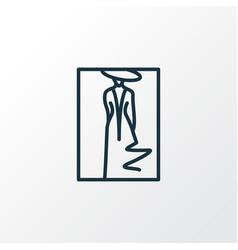 fashion sketch icon line symbol premium quality vector image