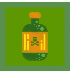 Flat shading style icon potion in bottle vector