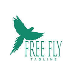 free fly macaw logo vector image