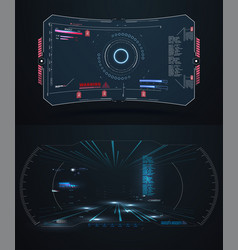 futuristic vr head-up display design future vector image