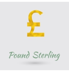 Golden Pound Sterling Symbol vector image