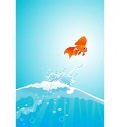 goldfish jump vector image