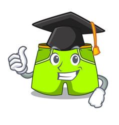 graduation cartoon sport fashion shorts for vector image
