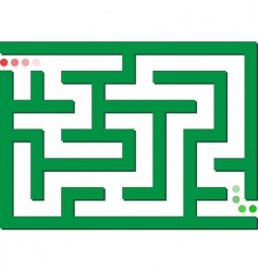 green labyrinth vector image
