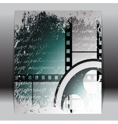 Grunge film for photo or video recording vector image