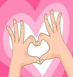 Hand symbol vector