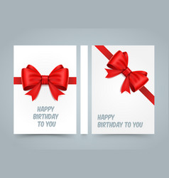 Happy birthday to you bow on white paper banner vector