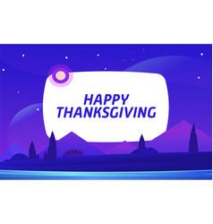 happy thanksgiving night environment vector image