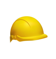 hard hat - safety helmet realistic vector image