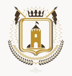Heraldic coat arms decorative emblem vector