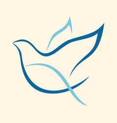 Holy spirit dove vector