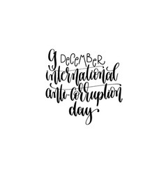 International anti-corruption day hand lettering vector