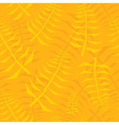 Jungle leaf seamless yellow pattern vector image